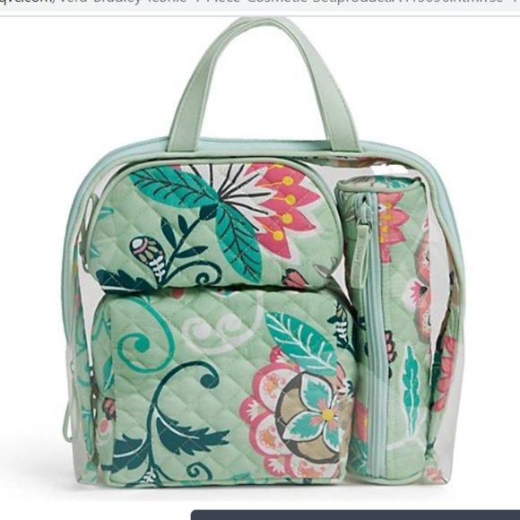 NEW w/ tags Vera Bradley 4-Piece Cosmetic set